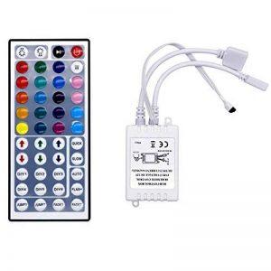 MXNET DC12V RVB LED contrôleur 24/44 clés Doubles connecteurs de Port de Sortie 2 gradateurs de Ports pour 3528 5050 RVB LED lumière de Bande (Color : Multi-Colored) de la marque MXNET image 0 produit