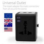 MyGadget Adaptateur Chargeur Universel 2X Port USB - 150 Pays - UK/USA / EU/AU - Prise Murale pour par ex. Angleterre/Thaïlande / Australie/Chine… de la marque MyGadget image 1 produit