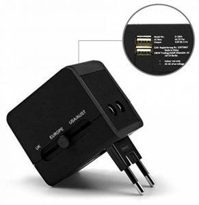MyGadget Adaptateur Chargeur Universel 2X Port USB - 150 Pays - UK/USA / EU/AU - Prise Murale pour par ex. Angleterre/Thaïlande / Australie/Chine… de la marque MyGadget image 0 produit