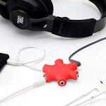MyGadget Séparateur Audio 5 Ports - 3,5 mm Aux Splitter - Convertisseur Répartiteur Etoile - Partage pour câbles de Smartphone, Laptop & PC - Rouge de la marque MyGadget image 3 produit