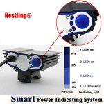 Nestling® 2/3 x Cree LED de vélo rechargeable 5000/6600LM Phare Phare vélos Bike Light Torch avec 8.4V, 7200mAh 4 x 18650 batterie + Feu arrière (Noir) de la marque Nestling image 2 produit