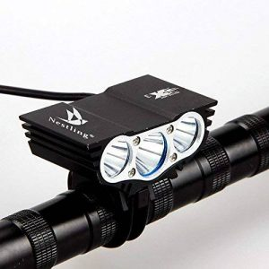 Nestling® 2/3 x Cree LED de vélo rechargeable 5000/6600LM Phare Phare vélos Bike Light Torch avec 8.4V, 7200mAh 4 x 18650 batterie + Feu arrière (Noir) de la marque Nestling image 0 produit