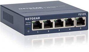 Netgear FS105-300PES Commutateur Ethernet 10/100 Mbps 5 Ports Noir de la marque Netgear image 0 produit