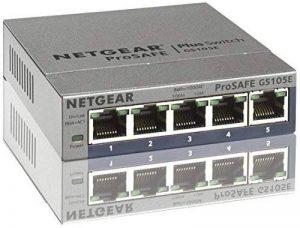 NETGEAR GS105E-200PES Smart Switch Web Manageable 5ports Gigabit NETGEAR GS105Ev2 | Protection à Vie ProSafe de la marque Netgear image 0 produit