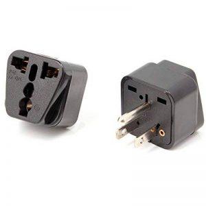 Neuftech® 2 Pcs Nouvel Adaptateur Secteur prise électrique universel pour aller aux USA, Canada, Thaïlande de la marque Neuftech image 0 produit