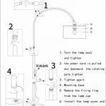 Nordique fer incurvé lampadaire - moderne minimaliste LED tissu noir pêche canapé lecture lampadaire américain village salon chambre étude lampes de sol (interrupteur à bouton, gradateur) de la marque DFMD image 3 produit