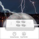 NTONPOWER Multiprise Parafoudre Protection à 4 Prises avec 5 Ports USB de Recharge et Cordon de 1.5m pour Maison et Bureau – Blanc de la marque NTONPOWER image 3 produit