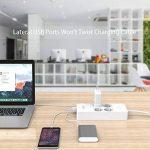 NTONPOWER Multiprise Parafoudre Protection à 4 Prises avec 5 Ports USB de Recharge et Cordon de 1.5m pour Maison et Bureau – Blanc de la marque NTONPOWER image 4 produit