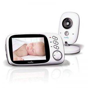 Nuvita 3032 Babyphone Caméra sans fil – Ecoute bébé Vidéo Numérique 2.4ghz - Interphone Bidirectionnel – Large Ecran LCD 3.2'' - Vision Nocturne - Température - Berceuses – Fonction VOX - Marque EU de la marque Nuvita image 0 produit
