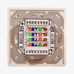 odedo® Prise réseau cat 6A 10Gigabit 500MHz universel apparent et encastré, 2x rj 45plein blindé réseau Ethernet en blanc signal RAL9003AWG 222324LAN Boîte–Network Wall Outlet STP de la marque odedo® image 2 produit