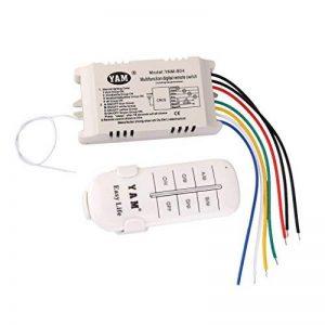 ON/OFF 4-canaux Interrupteur de Lumière sans Fil Numérique avec Télécommande 220V-240V de la marque MagiDeal image 0 produit