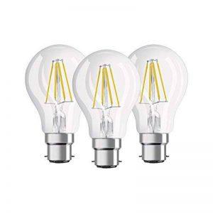 OSRAM - Lot de 3 Ampoules LED Filament Standard - Culot B22 - 7 W Equivalent 60 W - Blanc Chaud 2700K de la marque Osram image 0 produit