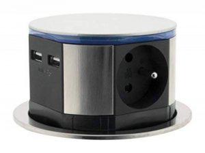OTIO 760100 Bloc Escamotables et Multiprises, Gris de la marque Otio image 0 produit