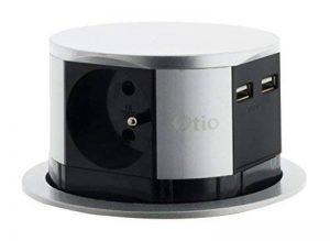 Otio - Bloc Multprise Escamotable Compact avec Système Push - 3 Prises 16A 2P+T et 2x USB de la marque Otio image 0 produit