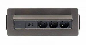 Otio - Bloc Prise Encastrable Pivotant 3x 16A avec 2x USB de la marque Otio image 0 produit