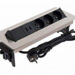 Otio - Bloc Prise Encastrable Pivotant 3x 16A avec 2x USB de la marque Otio image 3 produit