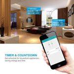 Outdoor Smart Prise, smiler + Outdoor Prise Wi-Fi avec 2prises, compatible avec Alexa et Google Home, sans fil avec télécommande/Timer de smartphone, étanche pour intérieur et extérieur de la marque Smiler+ image 3 produit