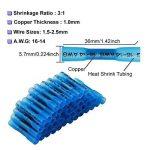 Oxoxo 60pcs de raccords de fil électrique, thermorétractables Connecteurs, étanche fils Connecteurs isolés à sertir Bornes électriques Marine Automotive (30red 30blue) de la marque OxoxO image 3 produit