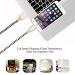 Pack de 2 Câble Lightning vers USB 2M Ulinek Câble Chargeur iPhone en Fibre de Nylon Tressé, Fil de Données avec Connecteur Ultra Résistant pour Apple iPhone 8 / 8 Plus / 7 / 7 Plus / 6s / 6s Plus / 6 / 6 Plus / 5c / 5s / 5 / SE, iPad Pro, Air, iPad mini image 4 produit