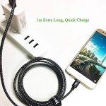 [Pack de 3, 1m] Câble USB Type C, Jecent Nylon Tressé Cable USB C Chargeur en Aluminium pour Samsung S8/S8+/Note8/ A3/5 (2017) / A7 / A9 / C5/7 pro / C9, LG G5/G6, Nexus 5X/6P, Onplus 2/3/3T, Sony Xperia XZ, Huawei P9, Nokia N1, New MacBook 2015, ChromeBo image 4 produit