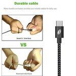 [Pack de 3, 1m] Câble USB Type C, Jecent Nylon Tressé Cable USB C Chargeur en Aluminium pour Samsung S8/S8+/Note8/ A3/5 (2017) / A7 / A9 / C5/7 pro / C9, LG G5/G6, Nexus 5X/6P, Onplus 2/3/3T, Sony Xperia XZ, Huawei P9, Nokia N1, New MacBook 2015, ChromeBo image 3 produit