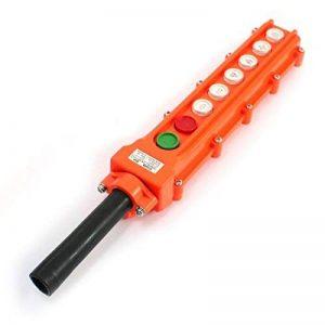Palan Grue 6Way 8Bouton Orange Plastique imperméable Button Switch Cob63a de la marque Sourcingmap image 0 produit