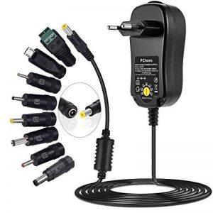 PChero Bloc d'alimentation universel, 3/4.5/5/6/7.5/9/12V - MAX 2000 mA, 8 prises (une fiche Micro USB incluse), adaptateur de voyage de la marque PChero image 0 produit