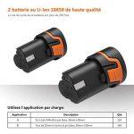 Perceuse sans Fil Tacklife PCD03B (2 Batteries Li-ion 12V 2000mAh, Couple 27Nm, 2 Vitesses, 19+1 Possition, Chargeur Rapide 100V-240V, Mandrin Auto-serrant 10mm, 14pcs Accessoires & 1 Coffret Fournis) de la marque Tacklife image 4 produit