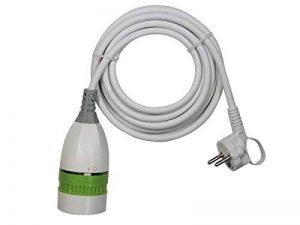 Perel EC03W-G Câble de rallonge avec interrupteur marche/arrêt rotatif, contact de protection, longueur 3m, blanc de la marque Perel image 0 produit