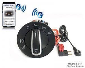 Phare Brouillard Lumière Interrupteur de Contrôle Unité - EL16 auto phare commutateur avec Bluetooth Android et iOS App, Coming et Leaving Home Fonction pour Cayenne 955 / 957 Base, S, GTS, Turbo S Sport Utility avec 7L5941531B de la marque ElecGear image 0 produit