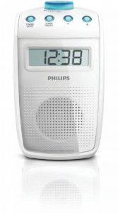 Philips AE2330 Radio de salle de bain étanche avec horloge intégrée et minuterie réglable, Blanc de la marque Philips Audio image 0 produit