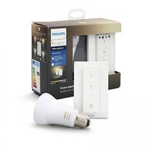 Philips Hue Dimming Kit White Ambiance avec 1xE27 10,5W [interrupteur avec variateur inclus] - Fonctionne avec Alexa de la marque Philips Lighting image 0 produit