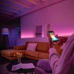 Philips Hue Kit de démarrage White and Color Ambiance avec 3xE27 10W [pont et interrupteur avec variateur inclus], un kit de lampes connectées - Ampoules à variation de couleurs - Fonctionne avec Alexa de la marque Philips Lighting image 3 produit