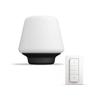 Philips Hue WellnessLampe de Table Noire White Ambiance E27 9,5W [Interrupteur avec Variateur Inclus], Lampe Connectée - Lumière Led Blanche Naturelle - Compatible avec Apple Homekit, Alexa de la marque Philips Lighting image 0 produit
