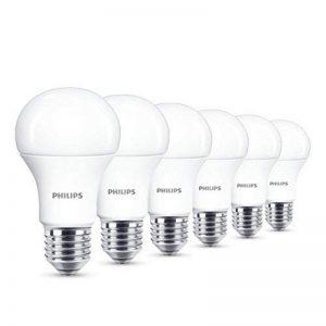 Philips Lot de 6 Ampoules LED Standard Culot E27, 13W équivalent 100W, Blanc Chaud 2700K, Dépolie de la marque Philips image 0 produit