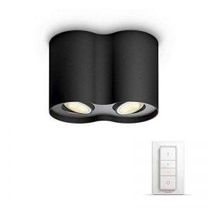 Philips Luminaire télécommandé Pillar Spot Hue 2 têtes noir + télécommande variateur de lumière - Fonctionne avec Alexa de la marque Philips Lighting image 0 produit