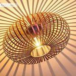 Plafonnier Oravi en métal de couleur cuivre - Lampe extravagante avec abat-jour accrocheur et effets de lumière au plafond - Douille 1 x E27 - Lampe d'ambiance pour salon - couloir - chambre de la marque hofstein image 1 produit