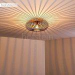 Plafonnier Oravi en métal de couleur cuivre - Lampe extravagante avec abat-jour accrocheur et effets de lumière au plafond - Douille 1 x E27 - Lampe d'ambiance pour salon - couloir - chambre de la marque hofstein image 2 produit