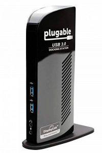 Plugable USB 3.0 Station d'accueil universelle avec sortie vidéo double pour Windows 10, 8.1, 8, 7, XP (HDMI/DVI / VGA, Gigabit Ethernet, Audio, 2 ports USB 3.0, 4 ports USB 2.0) de la marque Plugable image 0 produit