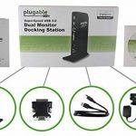 Plugable USB 3.0 Station d'accueil universelle avec sortie vidéo double pour Windows 10, 8.1, 8, 7, XP (HDMI/DVI / VGA, Gigabit Ethernet, Audio, 2 ports USB 3.0, 4 ports USB 2.0) de la marque Plugable image 4 produit