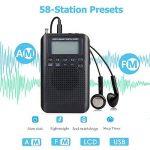 Portable Pocket Radio,Mini AM FM Radio numérique Portable avec réveil et minuterie de Sommeil, Haut-Parleur ou écouteur pour l'intérieur ou à Pied de la marque wingsky image 4 produit