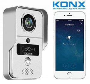 Portier audio et vidéo 720p Wi-Fi, détecteur de mouvement, lecteur RFID - Konx de la marque KONX image 0 produit