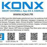 Portier audio et vidéo 720p Wi-Fi, détecteur de mouvement, lecteur RFID - Konx de la marque KONX image 4 produit