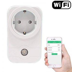 POWER BRIGHT Wifi Smart Socket Outlet Plug EU, prise de courant à distance sans fil Prise de sortie électrique Minuterie numérique Alimentation avec mise sous / hors tension Électronique de n'importe quel endroit, télécommande, contrôle de la fonction de image 0 produit