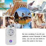 POWER BRIGHT Wifi Smart Socket Outlet Plug EU, prise de courant à distance sans fil Prise de sortie électrique Minuterie numérique Alimentation avec mise sous / hors tension Électronique de n'importe quel endroit, télécommande, contrôle de la fonction de image 2 produit