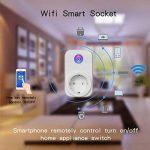 POWER BRIGHT Wifi Smart Socket Outlet Plug EU, prise de courant à distance sans fil Prise de sortie électrique Minuterie numérique Alimentation avec mise sous / hors tension Électronique de n'importe quel endroit, télécommande, contrôle de la fonction de image 4 produit
