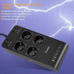 Powerjc Multiprises - Parasurtenseur Parafoudre mit 4 Prises avec 5 Ports USB, 3500J Protection Surtensions 2M Rallonge Multiprise de la marque Powerjc image 3 produit