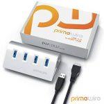 Primewire - 4 Port USB 3.0 Hub | Concentrateur à 4 ports (distributeur) | pour PC / Notebook / Ordinateur Portable / Tablet / iMac, Macbook | jusqu'à 5 Gbits/s | Plug & Play | Windows, Linux et Mac | argent de la marque CSL-Computer image 3 produit