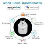 Prise Connectée WiFi,Grefic Prise WiFi Intelligente Fonctionne avec Amazon Alexa/Google Assistant/IFTTT pour la Commande Vocale,aucun hub requis,Télécommande Programmable et Fonction de Minuterie via Android iOS Phone de la marque Grefic image 1 produit