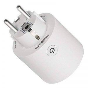 Oukitel 3680W 16A Prise Intelligente Fonctionnant avec  Alexa Google Home IFTTT T/él/écommande de Contr/ôle Fonction Timer et Application de Contr/ôle Prise Intelligente Connect/ée Wi-FI
